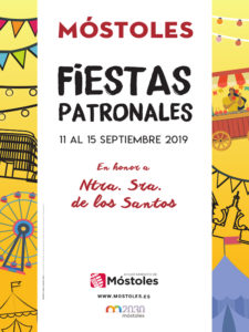 Fiestas de Móstoles 2019 | Nuestra Señora de los Santos | 11-15/09/2019 | Móstoles | Comunidad de Madrid | Cartel