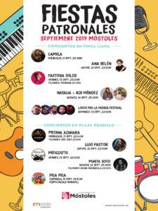 Fiestas de Móstoles 2019 | Nuestra Señora de los Santos | 11-15/09/2019 | Móstoles | Comunidad de Madrid | Conciertos