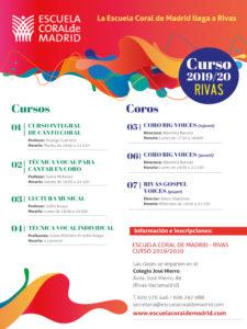La Escuela Coral de Madrid llega a Rivas-Vaciamadrid | Cursos y Coros 2019-2020 | Cartel