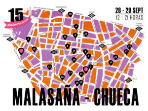Los Artistas del Barrio 2019 | Malasaña y Chueca | 28 y 29/09/2019 | Centro | Madrid | Mapa