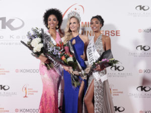 Nathalie Ortega, Athenea Pérez y Claudia Coba | Miss Universe Spain 2019 y finalistas | 18/09/2019 | Teatro Kapital | Madrid