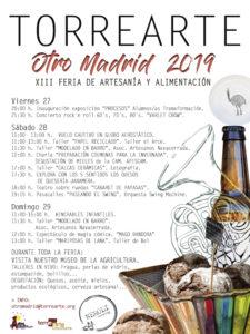 Torrearte Otro Madrid 2019 | 13ª Feria de Artesanía y Alimentación | 27, 28 y 29/09/2019 | Torremocha de Jarama | Comunidad de Madrid | Programa