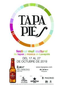 58 tapas con firma de mujer en Tapapiés 2019 | Lavapiés | Madrid | 17-27/10/2019 | Cartel