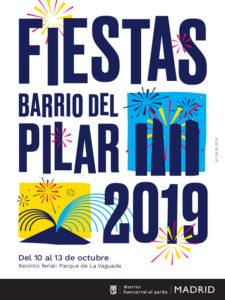 Fiestas del Barrio del Pilar 2019 | Fuencarral-El Pardo | Madrid | 10-13/10/2019 | Cartel