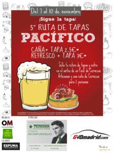 5ª Ruta de Tapas de Pacífico | 07-10/11/2019 | Retiro | Madrid | Cartel
