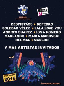 La noche sin hogar | 07/12/2019 | Matadero Madrid | Arganzuela | Madrid | Cartel