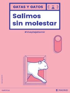Salimos sin Molestar | Vive y Deja Dormir | Ayuntamiento de Madrid | Cartel