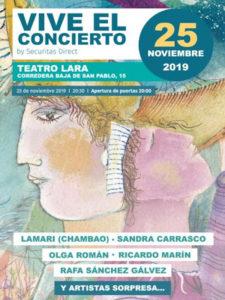 Vive el Concierto | Asociación Generando Igualdad | 25/11/2019 | Teatro Lara | Malasaña | Madrid | Cartel