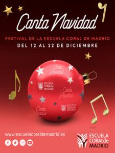Canta Navidad 2019 | Festival de la Sociedad Coral de Madrid | 12-22/12/2019 | Madrid y Rivas-Vaciamadrid | Cartel