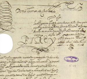 Documento de la madre de Cervantes | Poder otorgado por Leonor de Cortinas a favor del mercader Juan Fortunyo para pagar el rescate de su hijo | Archivo Histórico de Protocolos de Madrid