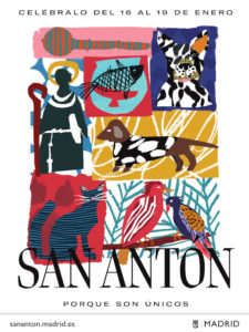 Fiestas de San Antón 2020 | Chueca y Palacio de Cibeles | Madrid | 16-19/01/2020 | Cartel | Fuente Ayuntamiento de Madrid