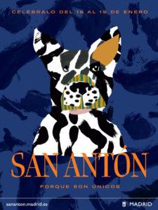 Fiestas de San Antón 2020 | Chueca y Palacio de Cibeles | Madrid | 16-19/01/2020 | Cartel perro | Fuente Ayuntamiento de Madrid