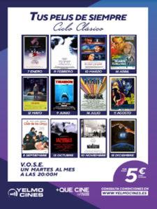 +Que Cine | Ciclo de cine clásico | Yelmo Cines | Enero a diciembre 2020 | Cartel