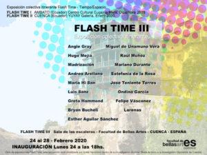 3ª Flash Time: Tiempo-Espacio | 24-28/02/2020 | Facultad de Bellas Artes | UCLM | Cuenca | España | Cartel