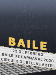Baile de Carnaval 2020 | Círculo de Bellas Artes | Madrid | 22/02/2020 | Cartel de Daniel Gómez-Valcárcel