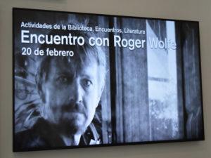 Encuentro con Roger Wolfe | Ciclo Encuentro con autores 2020 | La Casa Encendida | 20/02/2020 | Lavapiés | Madrid | Cartel