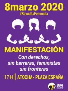 8M Madrid | Día Internacional de la Mujer 2020 | Cartel manifestación