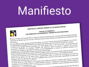 8M Madrid | Manifiesto | Día Internacional de la Mujer 20208