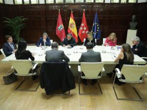 Declaración institucional del Ayuntamiento de Madrid por el coronavirus | Reunión portavoces municipales | Foto Ayuntamiento de Madrid