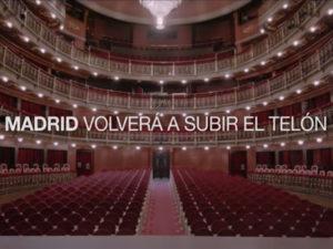 Madrid volverá a subir el telón | Lema teatros municipales de Madrid | Día Mundial del Teatro 2020