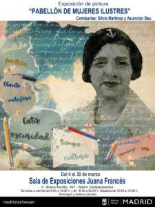 Programación Las mujeres hacemos historia | Marzo 2020 | Tetuán | Madrid | Exposición Pabellón de mujeres ilustres | 4-30/03/2020 | Cartel