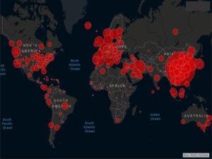 Recomendaciones sanitarias oficiales sobre el corona virus | Mapa de casos globales del Covid-19 | Fuente: CSSE (Johns Hopkins University)