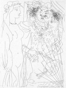 Suite Vollard de Picasso | Fundación ICO | Rembrandt y mujer con velo | © Sucesión Pablo Picasso/VEGAP