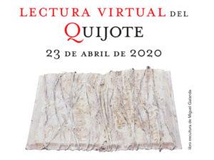 24ª Lectura Continuada del Quijote virtual | Día Mundial del Libro 2020 | 23 de abril | Círculo de Bellas Artes | Madrid | Cartel
