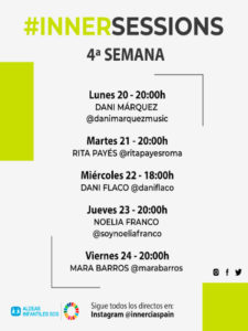 4ª InnerSessions de conciertos online | Innercia Entertainment Spain | Cartel