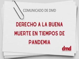 Comunicado de DMD | Derecho a la buena muerte en tiempos de pandemia