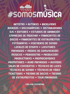 Somos Música 2020: apoya la industria musical   Cartel
