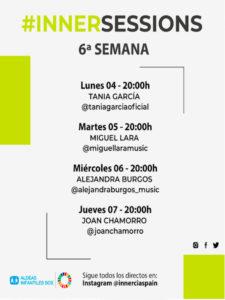 6ª InnerSessions de conciertos online | Innercia Entertainment Spain | Cartel