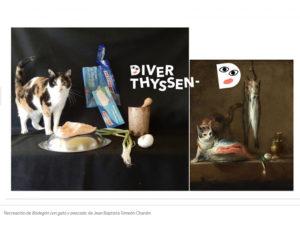 DiverThyssen | Concurso infantil | 22/05-22/06/2020 | Museo Nacional Thyssen-Bornemisza | Madrid | Recreación de 'Bodegón con gato y pescado'