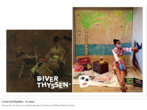 DiverThyssen | Concurso infantil | 22/05-22/06/2020 | Museo Nacional Thyssen-Bornemisza | Madrid | Recreación de 'El quimono' | Carla Gil Hipólito