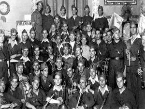 Quinto Regimiento de Milicias Populares | Banda con Rafael Oropesa en el centro | Tetuán | Madrid