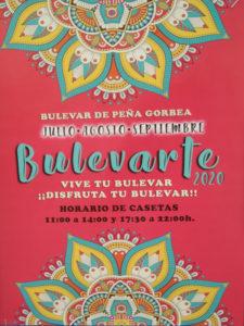 Bulevarte 2020 | 1er periodo: julio - agosto - septiembre | Bulevar de Peña Gorbea | Puente de Vallecas | Madrid | Cartel