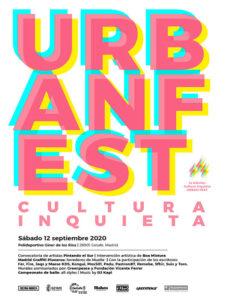 Cultura Inquieta Urban Fest | 12/09/2020 | Getafe | Comunidad de Madrid | Cartel