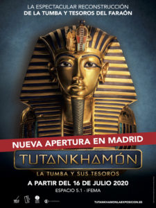 Tutankhamón: la tumba y sus tesoros | Espacio 5.1 | IFEMA | Barajas | Madrid | Cartel