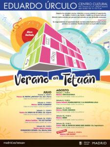 Verano en Tetuán 2020   Centro Cultural Eduardo Úrculo   3/07-5/09/2020   Tetuán   Madrid   Cartel