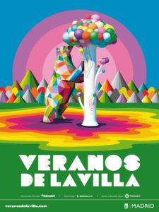 Veranos de la Villa 2020   Centro Cultural Conde Duque   29/07-30/08/2020   Madrid   Cartel Okuda San Miguel