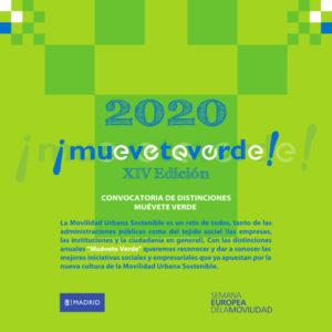 Convocatoria Distinciones Madrid Verde 2020 | Ayuntamiento de Madrid | Semana Europea de la Movilidad