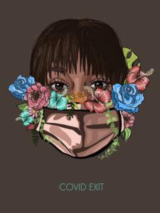 Covid Exit | Lema de los carteles de Madrid Gráfica 20 | Madrid | Otoño 2020 | Cristina Corredera (España)