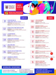 ECM Madrid | Curso 2020-2021 | Cartel cursos