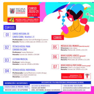 ECM Rivas | Curso 2020-2021 | Cartel cursos