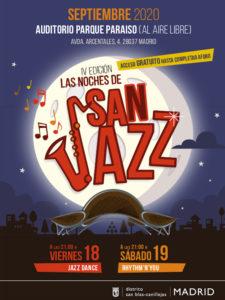 Las Noches de San Jazz 2020 | San Blas-Canillejas | Madrid | Cartel