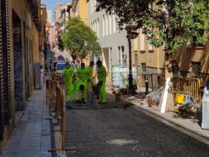 Rehabilitación de pavimentos especiales en 25 calles de Centro | Trabajos en la calle de la Palma | Malasaña | Madrid | Foto Ayuntamiento de Madrid