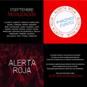 Alerta Roja | Movilización 28 ciudades 17S | #alertaroja #hacemoseventos | Cartel