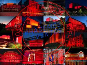 Alerta Roja   Teatros del Reino Unido vestidos de rojo   6/07/2020   #AlertaRoja   #HacemosEventos   Foto London Theatre Direct