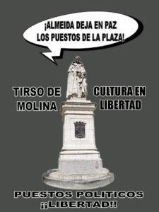 ¡Almeida deja en paz los puestos de la plaza! | Tirso de Molina Cultura en Libertad | Puestos Políticos ¡¡Libertad!!