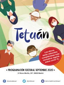 Nueva temporada cultural 2020-2021 | Programación septiembre | Tetuán | Madrid | Cartel